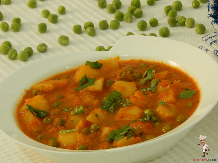 Aloo Matar - Healthy Dinner Ideas for two