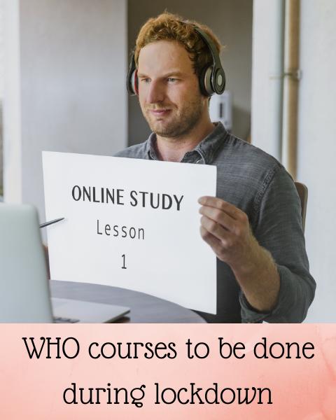 WHO Courses